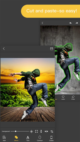 تطبيق KnockOut 2 لقص الصور وتغيير الخلفيات وإضافة الملصقات
