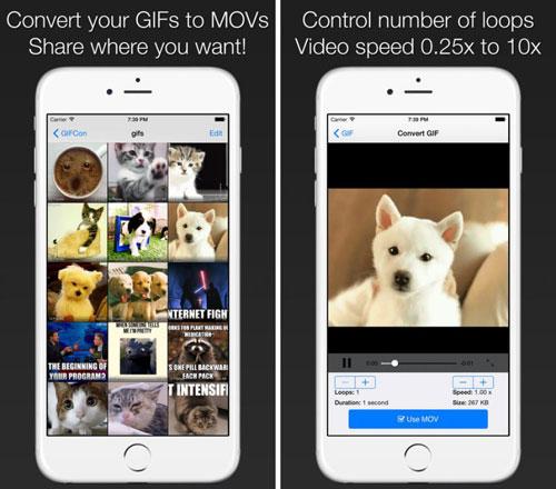تطبيق GIFCon لإنشاء صور متحركة بصيغة Gif