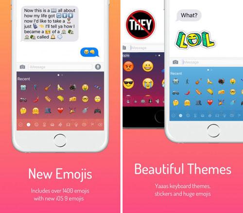 تطبيق Next Emoji Keyboard لوحة مفاتيح مميزة