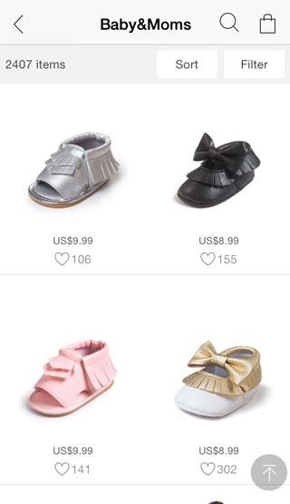 تطبيق JollyChic لشراء الملابس وأدوات النساء والأطفال