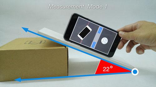 تطبيق iAngle Meter PRO لقياس حدة الزوايا
