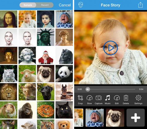 تطبيق Face Story لتغيير الوجوه بذكاء وانشاء صور GIF