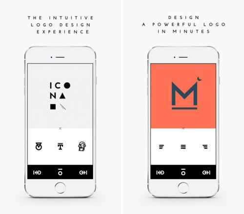 تطبيق ICONA لتصميم شعارك الخاص بنفسك
