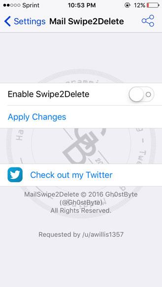 أداة Mail Swipe2Delete لحذف الإيميلات بالسحب مباشرة
