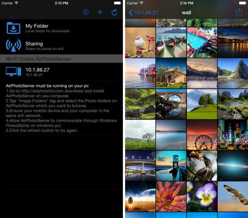 تطبيق AirPhotoViewer لنقل بين الايفون والحاسوب