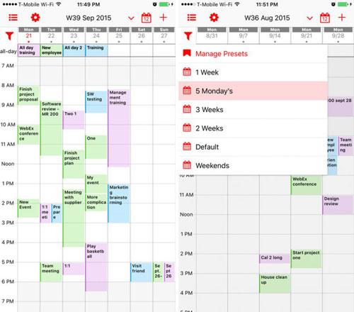 تطبيق Week Calendar Pro مميز لإدارة مواعيدك