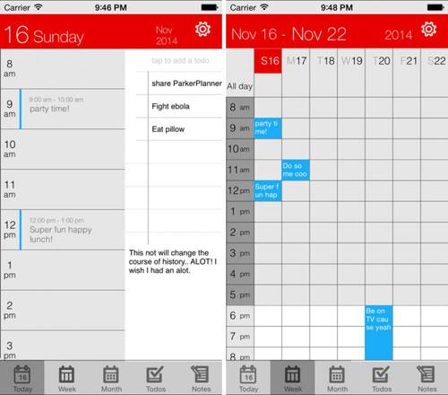 تطبيق Parker Planner لرسم خطط وبرامجك