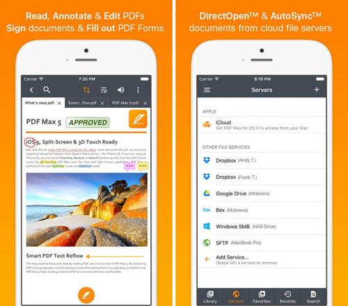 تطبيق PDF Max 5 Pro لتحرير ملفات PDF