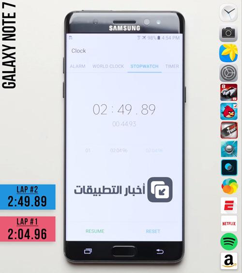 اختبار السرعة : iPhone 6s ضد Galaxy Note 7 - أيهما أسرع ؟!