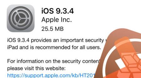 صورة أبل تطلق تحديث iOS 9.3.4 من أجل غلق ثغرة الجيلبريك