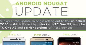 شركة HTC تعلن عن موعد حصول هواتفها على الأندرويد 7.0