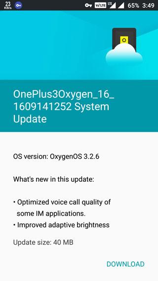 جهاز OnePlus 3 يحصل على تحديث OxygenOS 3.2.6