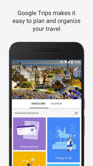 تطبيق Google Trips لتنظيم الرحلات والأسفار بطريقة ذكية