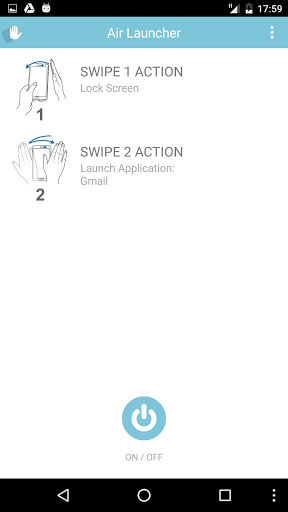 تطبيق Air Launcher لتنفيذ عدة مهام بواسطة الإيماءات