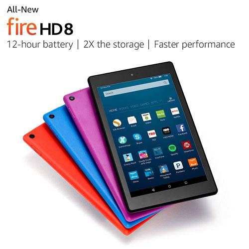 أمازون تكشف رسميا عن الجهاز اللوحي Fire HD 8، تعرفوا عليه