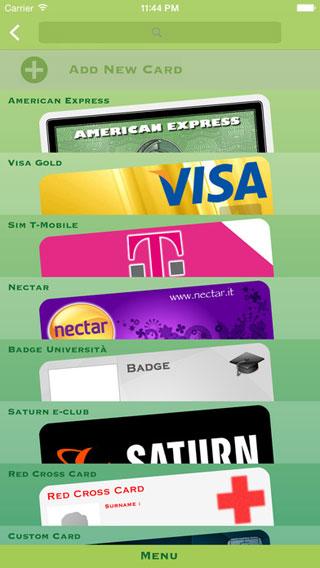تطبيق My Cards Lite لحفظ بطاقاتك المختلفة الكترونيا
