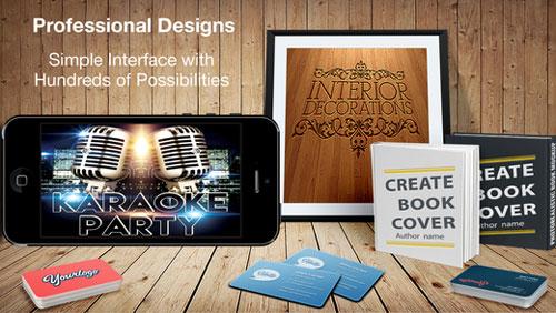 قم بتصميم شعارك وبطاقاتك الخاصة مع تطبيق Design & Flyer Creator - عرض خاص