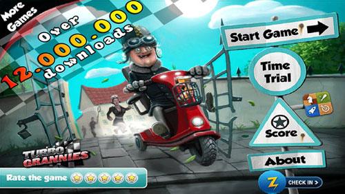 لعبة Turbo Grannies لمساعدة عجوز على قيادة دراجتها