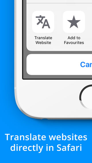 تطبيق Website Translate for Safari