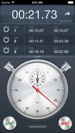 تطبيق Stopwatch+ مؤقت ساعة بتصميم كلاسيكي