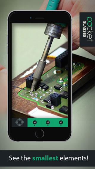 تطبيق Pocket Glasses PRO - حول الأيفون لنظارات تكبير
