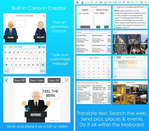 تطبيق BriefKey لوحة مفاتيح بمزايا كثيرة مع صور متحركة