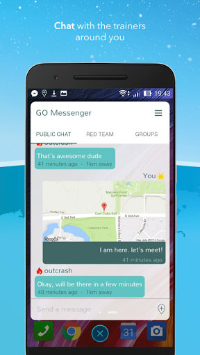 تطبيق Messenger for Pokemon GO للتواصل بين لاعبي البوكيمون