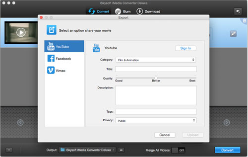 برنامج iSkysoft iMedia Converter Deluxe