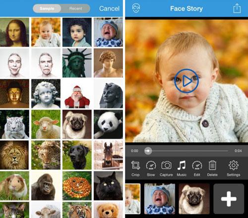 تطبيق Face Story لإنشاء صور متحركة مميزة