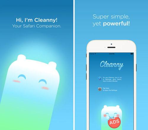 تطبيق Cleanny لتسريع تصفح سفاري ومنع الإعلانات