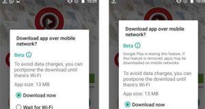 جوجل تختبر ميزة تنزيل التطبيقات الكبيرة عبر الواي فاي في جوجل بلاي