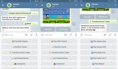 تحديث تطبيق Telegram لدعم تشغيل الألعاب مباشرة أثناء الدردشة