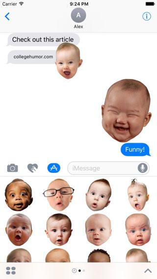 تطبيق BabyFaceMOJI إيموجي رائعة للأطفال على تطبيق iMessage