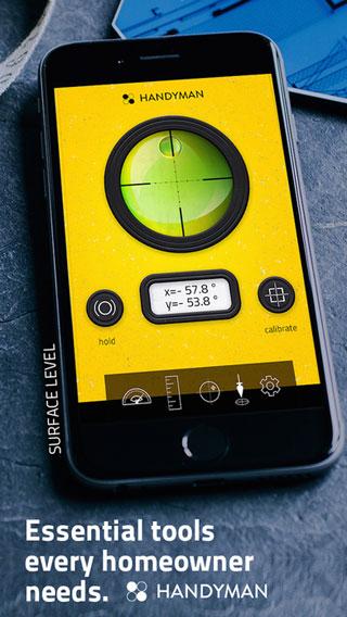 تطبيق Handy Tools for DIY - أربع أدوات قياس للاستخدام المنزلي