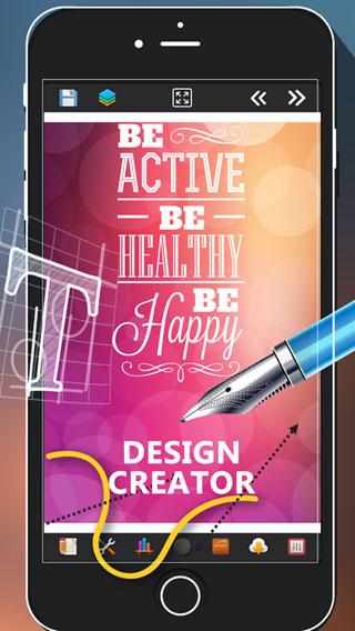 تطبيق Logo and Designs Creator للتصميم باحترافية