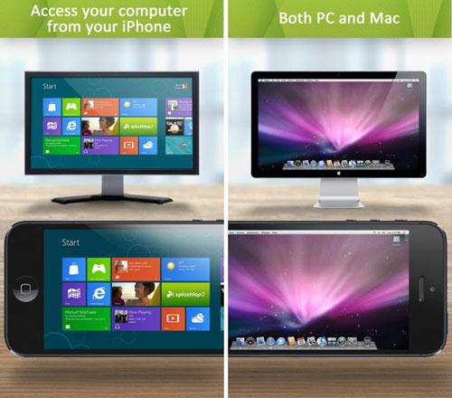 تطبيق Splashtop 2 للتحكم في حاسبوك بواسطة الايفون