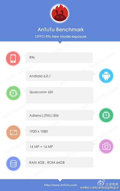 تسريب جهاز OPPO R9S