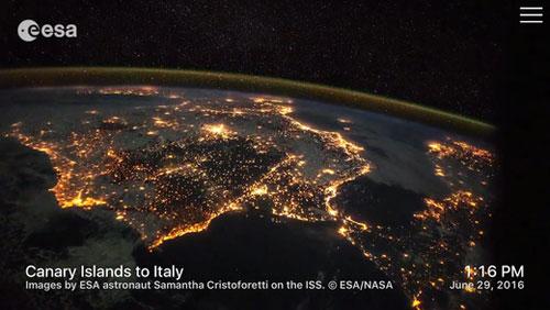 تطبيق Outland لمشاهدة الأرض من الفضاء الخارجي