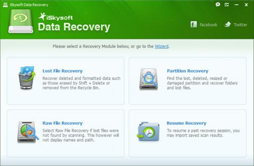 برنامج iSkysoft Data Recovery