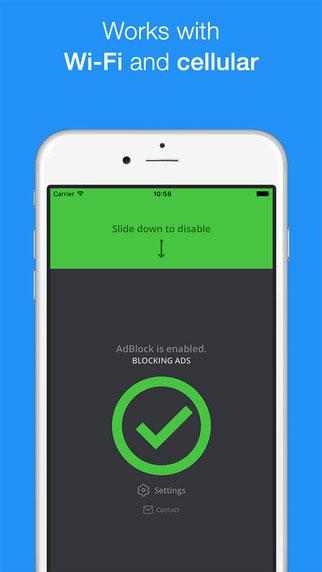 تطبيق AdBlock لحجب الإعلانات وتسريع التصفح للأيفون والآيباد