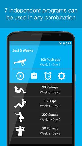 تطبيق Just 6 Weeks Lite دليلك الرياضي لبناء عضلاتك فقط في المنزل