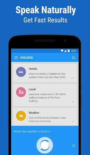 تطبيق HOUND مساعد شخصي للبحث والأوامر الصوتية