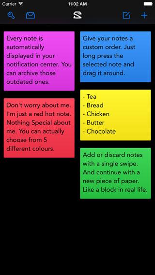 تطبيق Swiptly مذكرة بتصميم مميز وبسيط