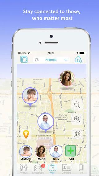 تطبيق iMap لمعرفة مكان أفراد العائلة والأصدقاء على الخريطة