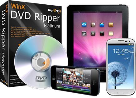 برنامج WinX DVD Ripper Platinum لتحويل الفيديو ونقله إلى الهواتف واللوحيات