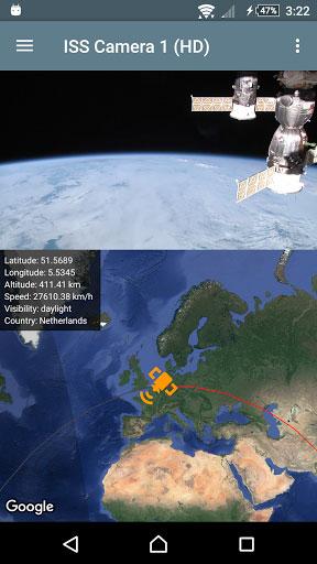 تطبيق ISS Live لمشاهدة فيديو مباشرة للأرض من الفضاء