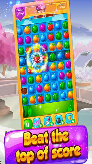 لعبة Candy Fruit مميزة ورائعة لمحبي الألعاب الكلاسيكية المليئة بالألوان