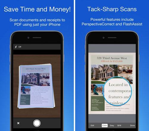 تطبيق Smart PDF Scanner لمسح الأوراق ضوئيا