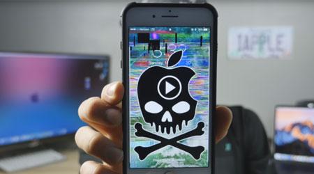 صورة انتبهوا – رابط فيديو خبيث يقوم بإيقاف الأيفون والأيباد