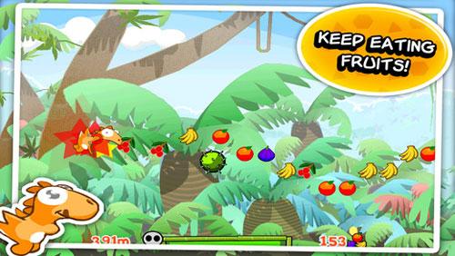 لعبة Dino Rush قم بمساعدة الديناصور الصغير